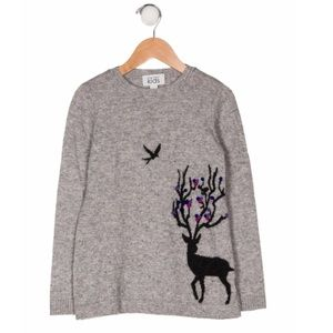 AUTUMN CASHMERE Collection Girls' Intarsia Sweater